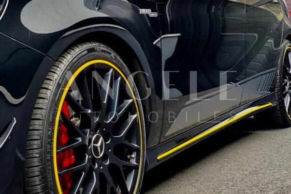 Mercedes A45 AMG Black & Yellow Edition one